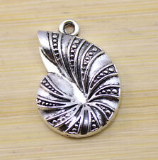 20/50/100 pcs Retro style Tibet silver Lovely snail charms Pendants 23x16 mm