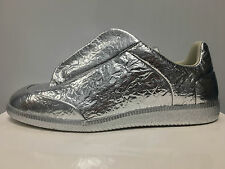 MMM Maison Martin Margiela Future Low Top Silver Foil Made in Italy $900 10-12