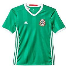adidas Mexico 2016 Home Youth Jersey Short Sleeve Green 1603