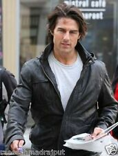 Tom Cruise Mission Impossible 4 Ghost Protocol Hooded MI4 Leather Jacket