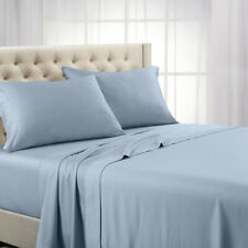 600 Thread Count Solid Sheet Set Combed  Cotton Bed Sheet Set Deep Pocket