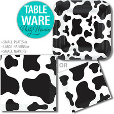 COW PRINT FARM ANIMAL WESTERN BIRTHDAY PARTY SUPPLIES DECORATIONS NAPKINS PLATES