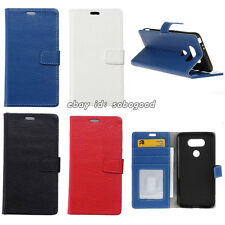 Authentic real genuine Leather Flip Wallet Case Cover Stand Card Slot for Phones