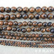 3-10mm Round Blue Goldstone Beads Loose Gemstone Beads Jewelry Making Strand 15""