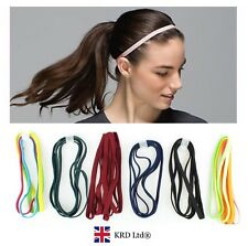 2 x Snag Free Elastic Head Bands Hairbands Ladies Girls School Sports Gym Hair