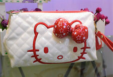 New Hellokitty Big Volume Cosmetic Hand Bag make up Bag w/ Strap lyo-10374