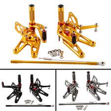 New Colorful Adjustable Racing Rear Foot pegs Fit Yamaha YZF R6 2003 2004 2005