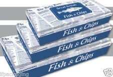 Great British Fish & Chips ( Paper Boxes) Hot Food Takeaway Packaging x 1 sample