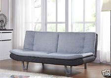Fabric Sofa Bed 3 Seater Egg Grey or Charcoal Fabric SofaBed Faux Leather Sofa
