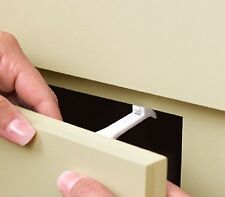 CUPBOARD DRAWER LOCK SECURE CATCHES PACK SAFETY BABY CHILD PROOFING 3 6 12 24