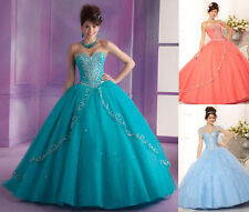2016 Beads Quinceanera Dress Formal Prom Party Ball Gown Wedding Dresses Custom