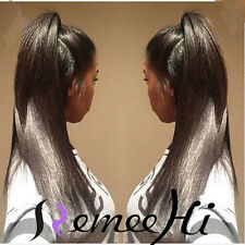 "Baby Hair Silky Straight 100% Indian Remy Human Hair 12""-24"" Lace Front/Full Wig"