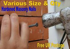 MASONRY NAILS HARDENED METRIC BRICK STONE CONCRETE 30mm - 80mm x 3mm THICK