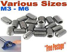 A2 STAINLESS STEEL GRUB SCREWS CUP POINT METRIC M3 M4 M5 M6 HEX SOCKET