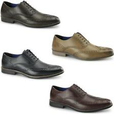 Red Tape KILDARE Mens Smart Soft Shiny Leather Lace Up Wingtip Oxford Brogues