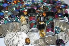 100 Carats Cut Gems 3 OLD US Silver Coins 60x Power Loop+ Digital Jewelry Scale