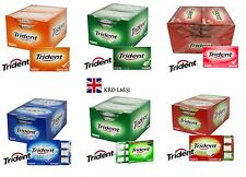 12 Packs x TRIDENT Chewing Gum Splash Soft Flavour Packet Sugar Free FULL BOX