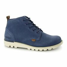 Kickers KICK HISUMA Mens Casual Premium Suede Leather Chukka Ankle Boots Blue