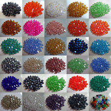 Hot Sale Wholesale !Lot very beautiful 4-6-8mm crystal Bicone Beads U Pick color