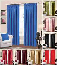 Tape top Curtains Fully Lined Plain Manhattan