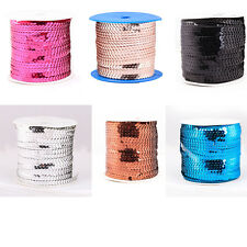 9 Colors Sexy Shiny Plastic Sequin Paillette Cord For Clothing/Shoes Design Hot