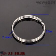 Wholesale Stainless Steel Split Rings Key Rings Jewelry Making Supplies 25x2.6mm