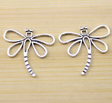 20/40/100 pcs Retro style Very beautiful dragonfly alloy charm pendant 30x27 mm