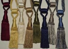 "Curtain & Chair Tie Back-Adjustable- 36""spread with 7""tassel in 8 Bright colors."