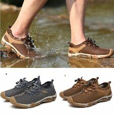 Outdoor Summer Mens Shoes Leather Sport Sandals Fashion Sneakers Water Climbing