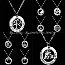 Party Gift Forever In My Heart Pendant Necklace Family Member Word Fashion Women