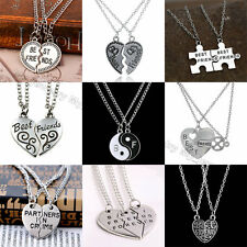 Fashion Women Heart Best Friends Pendant Necklace Gift Friendship Jewelry Broken