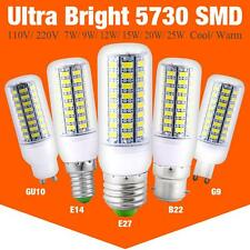 Ultra Bright 5730 SMD LED Corn Bulb Lamp Light White 110V 220V E27 B22 GU10 E14