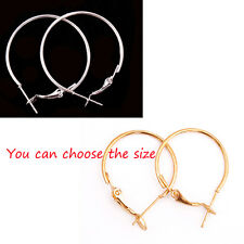 Lots Fashion Silver Round Circle Big Loop Hook Basketball Wives Earrings 20pcs H