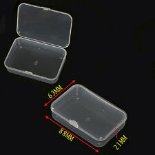 1/3/5pc Plastic Clear Transparent With Lid Collection Container Case Storage Box