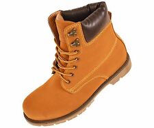 Concrete Mens Tan Rugged Work Boot with Plain Toe : 8030-028