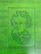 A4 Ring Binder for Sheet Music or Stamp Album - BEETHOVEN in Hand-Tooled Leather