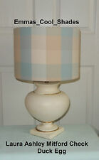 New Handmade Lampshade Laura Ashley Mitford Check Duck Egg Drum Bespoke Gingham