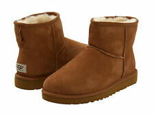 NEW WOMEN UGG AUSTRALIA BOOT CLASSIC MINI CHESTNUT 5854 ORIGINAL FREE SHIPPING