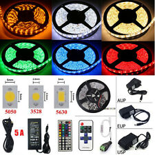 6Colors 5M 300LED SMD 3528/5050/5630 RGB Flexible Strip Light (Remote+Power+DC)