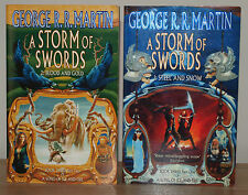 George R R Martin A Storm of Swords 1 Steel and Snow & 2 Blood and Gold 1st Ed