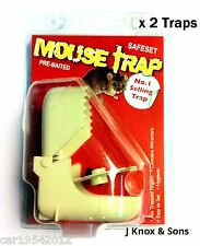 2 x Pre-Baited Mouse Traps Easy to Use Hygenic Pest Rodent Control Stop Plastic
