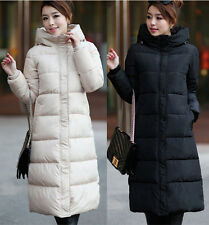 Winter Women's Down Jacket Long Parka Slim Thicken Hooded Warm Puffer Coat