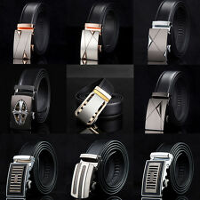 Genuine Leather Metal Buckle Waist Strap Men's Belts Automatic Buckle New Style