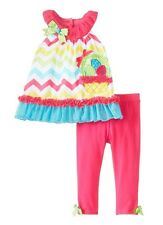 Rare Editions Chevron Easter Basket Outfit Two Piece Set