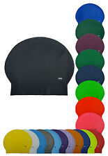 CHEX Latex Plain Adults 8 Years+ Swimming Swim Hat Cap Black Blue White Pink