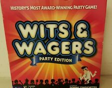 WITS AND WAGERS PARTY EDITION  BOARD GAME EXCELLENT CONDITION