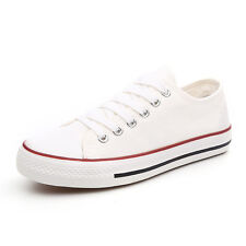 Womens Ladys Classic Ox Low Top Canvas Lace up Flat Sneakers Shoes US size 5.5-8