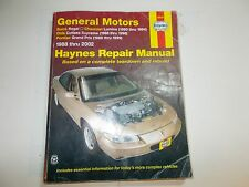 1988 89 90 91 92 93 94 95 96 97 98 99 00 01 HAYNES GM REGAL LUMINA REPAIR MANUAL