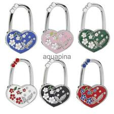 Heart Flowers Folding Table Hook Handbag Purse Tote Bag Support Hanger Holder