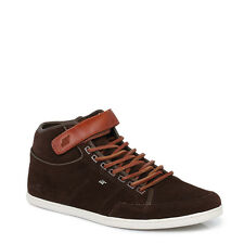 Boxfresh Brown Swich Mens Suede Leather Hi Tops Trainers Lace Up Casual Shoes